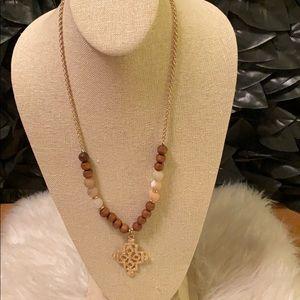 Organic Artisan Boho Maltese Cross Necklace NEW
